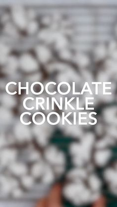 Prep Time 10 mins Cook Time 12 mins Total Time 22 mins This Chocolate Crinkle Cookies recipe is a holiday family favorite- they're. Chocolate Crinkle Cookies, Chocolate Crinkles, Baking Recipes, Cookie Recipes, Biscuits, Cheesecake Toppings, Cooking For A Group, Bakery Cafe, Pie Cake