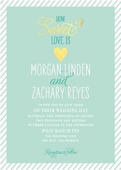 REVEL: Sweetheart Shine Invitations