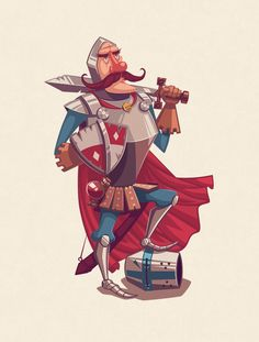 https://www.behance.net/gallery/13354183/The-Bard-the-Monk-the-Knight