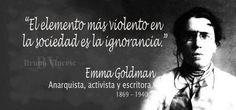 Emma Goldman, activista, anarquista y escritora