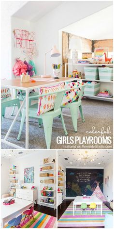Delight your daughter and design a fun kids space with these tips, inspiration, and decorating picks for a colorful girls playroom.