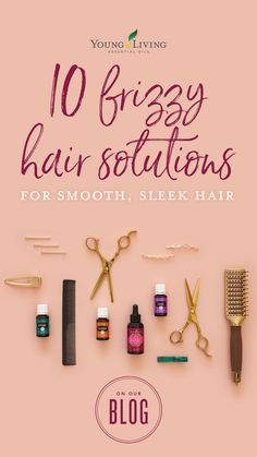 Frizzy hair got you feelin' down? Don't let a little rain ruin your runway look! Tame flyaways and frizz with these 10 essential tips for taming even the trickiest tresses for smooth, sleek hair. Essential Oils For Hair, Young Living Essential Oils, Essential Oil Blends, Hair Frizz, Frizzy Hair, Diy Hair Mask, Glass Spray Bottle, Home Remedies For Hair, Copaiba