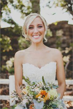 wedding hair and makeup #weddinghair #weddingmakeup #weddingchicks http://www.weddingchicks.com/2014/02/12/california-ranch-wedding/