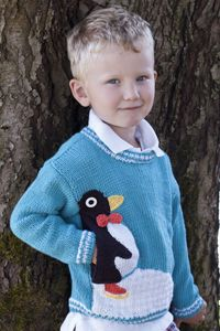 Sateen Worsted Penguin Pullover W548