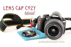A quick and simple way to stop losing your camera lens cap. Make a cozy to attach to your camera strep ---  Lens Cap Cozy How To tutorial