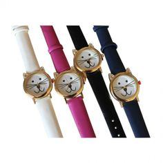 Cat Face Watches-black/blue