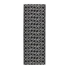 SOMMAR 2017 Tapis tissé à plat, intérieur/extérieur noir, blanc
