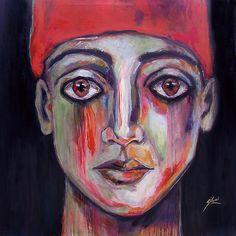 Suhair Sibai, Syria: 'Scream' 2012. mixed media on canvas