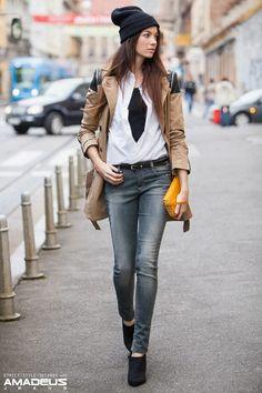 Street casual.