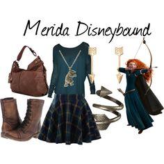 """Merida Disneybound"" by capamericagirl21 on Polyvore"