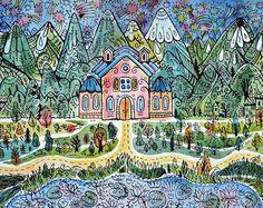 Samarskaya Milana #mountains #nigh #watercolor #illustration #illustrationwall #sketcheveryday #nature #star