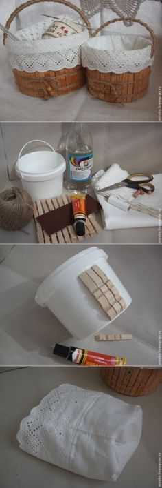 Изготовление корзинки для рукоделия.