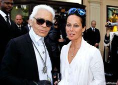 Karl Lagerfeld's muse... Amanda Harlech...