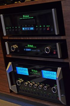 My little McIntosh stack. Ma7000 integrated with MVP841 running through the D100 preamp as a Dac. #audiophile #McIntosh