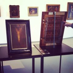 #kunstmalandersrum anhand der #gemälde #rückseiten klären wir über die #datierung der #altmeister auf! © LUDWIGGALERIE