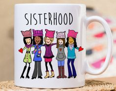 I am a Nasty Women is a great gift for Women in the Movement, Let Liz speak, march on Washington, the Pussy hat project, she persisted, Show you resits with this special Gift coffee mug.  ///// OUR MUGS HAVE THE SAME IMAGE ON BOTH SIDE //////  ( Unless we show otherwise) You can request Personalization on one side also.  1. 11 or 15 oz white ceramic mug (chosen at checkout) 2. Image is printed on both sides 3. Dishwasher (top rack) and mi...