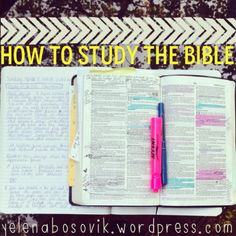 Tips on studying the Bible on a deeper level