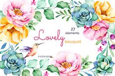 Lovely Bouquet by Kate_Rina on @creativemarket