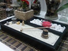 Miniature Zen Garden by WallzArt Miniature Zen Garden, Zen Gardens, Sandbox, Spiritual, Miniatures, Candle, Litter Box, Sand Pit, Minis