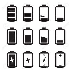 30274812-Simple-illustrated-battery-icon-with-charge-level-Stock-Vector.jpg (1300×1300)