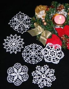 Advanced Embroidery Designs - FSL Crochet Snowflake Set II by dorothea