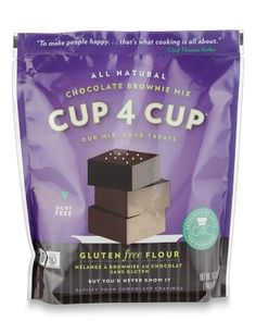 Amazing gluten free brownie mix. Try using 1/2 butter and 1/2 coconut oil.  Yum!! Cup4Cup Gluten-Free Brownie Mix