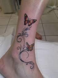 branch tattoo ankle butterfly - Google zoeken