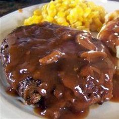 Salisbury Steak. Very easy.