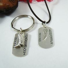 Cowboys and Angels Necklace and Keychain by CharitableCreations, $69.95