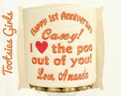 1st Paper Anniversary Toilet Paper Gift Custom by TootsiesGirls