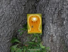 Handcrafted and hand painted unique orange & yellow Fairy door.  Every door I create by myself in the single copy. So they all are OOAK.  It is my own idea – make doors wit... ➡️ http://jto.li/qLxbd