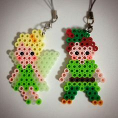 Tinker Bell and Peter Pan perler beads by ringo_0122