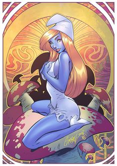 Smurfette by *Eddy-Swan on deviantART