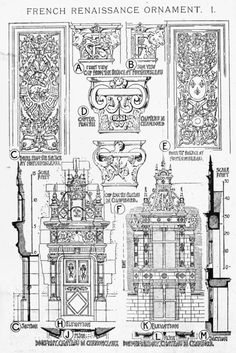 French Renaissance Ornament Examples A History of Architecture on the Comparative Method by Sir Banister Fletcher