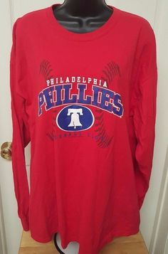 Genuine Merchandise Unisex Philadelphia Phillies Long Sleeve T-Shirt Size XL #GenuineMerchandise #PhiladelphiaPhillies