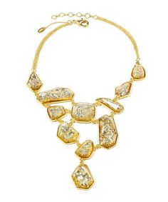Take a look at this Champagne Andra Summer Bib Necklace by Amrita Singh on #zulily today!