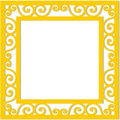 Silhouette Online Store - View Design #32197: 12x12 scrolls frame