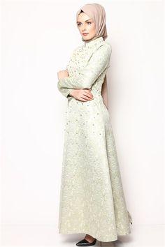 Tesettür Elbise - Mint 6032