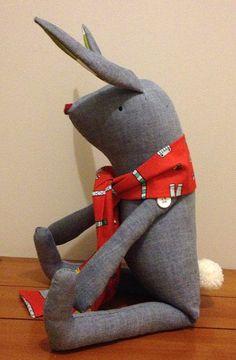 Handmade Ronnie Rabbit Softie / Plush Toy          by WhipStitchy, $30.00