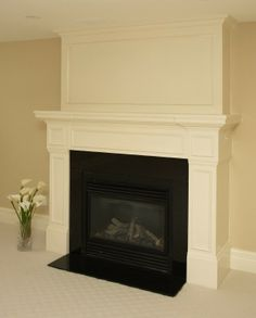 crown molding fireplace. Fireplace mantle framed with crown molding above Decorative Surround  mantles Mantle and Moldings