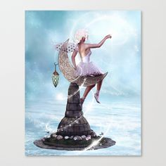 Stars Fairy Stretched Canvas by Simone Gatterwe | Society6
