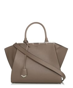 3Jours brown leather winged tote Sale - Fendi Sale