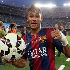 @neymarjr first league hat trick Primer hat-trick de Neymar en Lliga Primer hat-trick de Neymar en Liga #Neymar #FCBarcelona