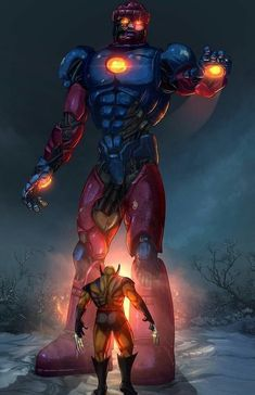 Wolverine vs The Sentinels Marvel Wolverine, Hq Marvel, Marvel Comics Art, Marvel Comic Universe, Comics Universe, Marvel Heroes, Anime Comics, Logan Wolverine, Avengers Comics