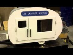 Little Free Library Camper - YouTube--What a great idea for a campground!