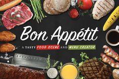 Food Scene/Menu Creator-Bon Appétit by Nathan Knight Design on Creative Market