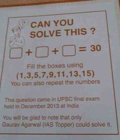 Can You Solve It? (I can't figure out how to make three odd numbers add up to an even number)