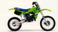The bike that started it all for me- 1985 KX-80. I delivered many a paper, and mowed many a lawn in my procurement program.