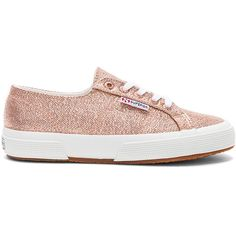 Superga 2750 Metallic Sneaker ($99) ❤ liked on Polyvore featuring shoes, sneakers, lace up sneakers, rubber sole shoes, laced sneakers, superga and metallic sneakers