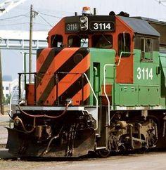 Vintage Trains, Burlington Northern, Train Engines, Model Trains, Locomotive, Buses, Airplane, Transportation, Black And White